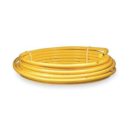 MUELLER INDUSTRIES Plastic coated yellow coil,1/2 OD 50 ft. DY08050