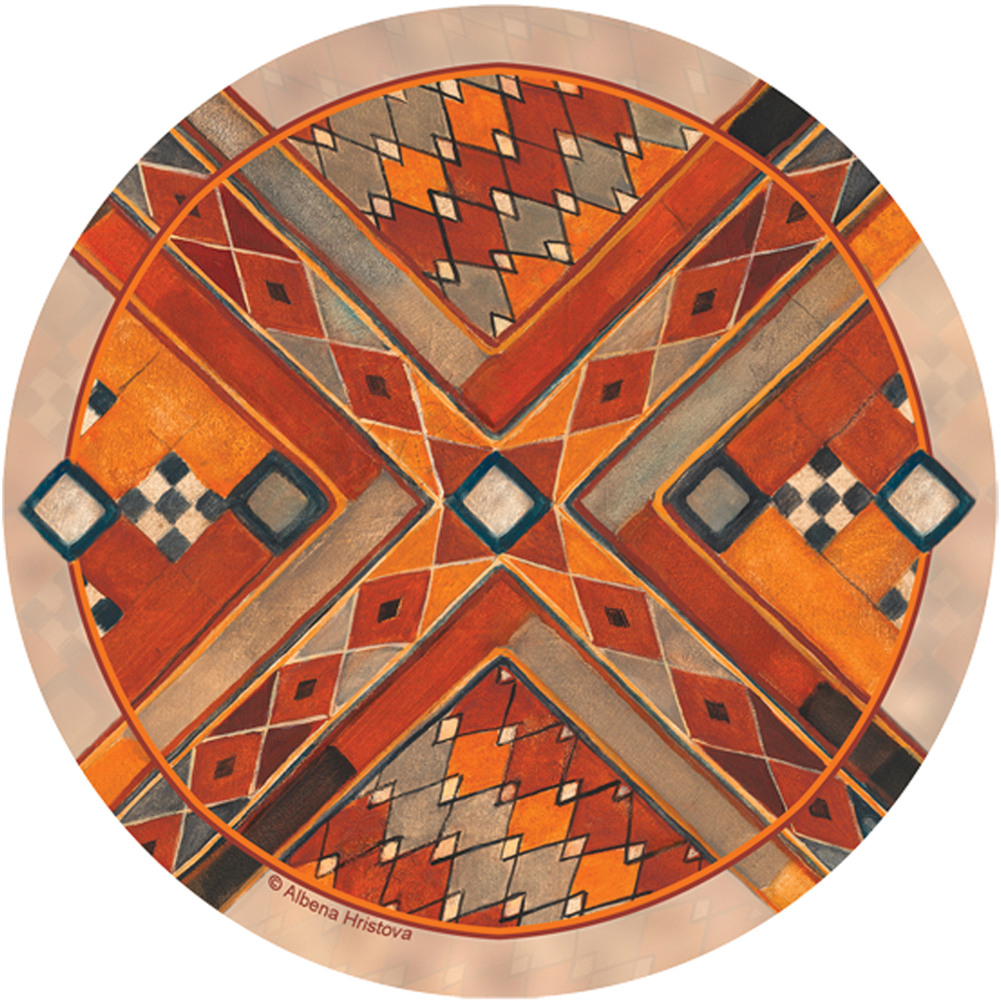 Thirstystone Occasions Drink Coasters, Southwest Pattern III
