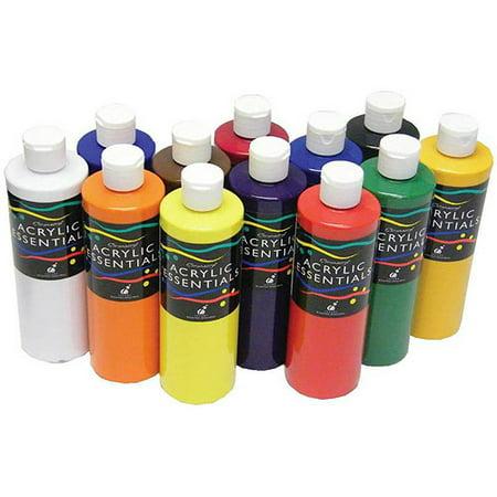 chromacryl acrylic essentials 1 pint set of 12 walmart com