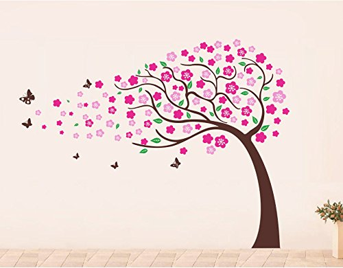 PopDecors - Flower Trees(71inch H) - Beautiful Tree Wall Decals for Kids Rooms  sc 1 st  Walmart & PopDecors - Flower Trees(71inch H) - Beautiful Tree Wall Decals for ...