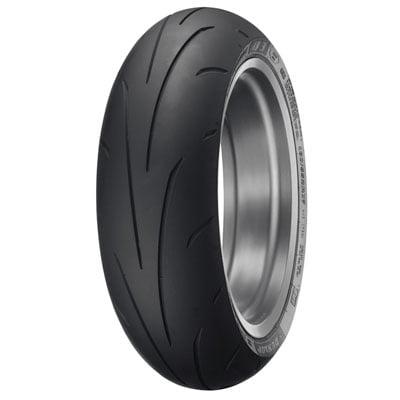 Dunlop Sportmax Q3+ Rear Motorcycle Tire 180/55ZR-17 (73W) for Ducati Scrambler Flat Track Pro 2016 - Flat Track Motorcycle