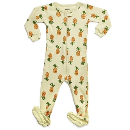 Leveret - Leveret Organic Cotton Pineapple Footed Pajama Sleeper 2 ... e671b909e