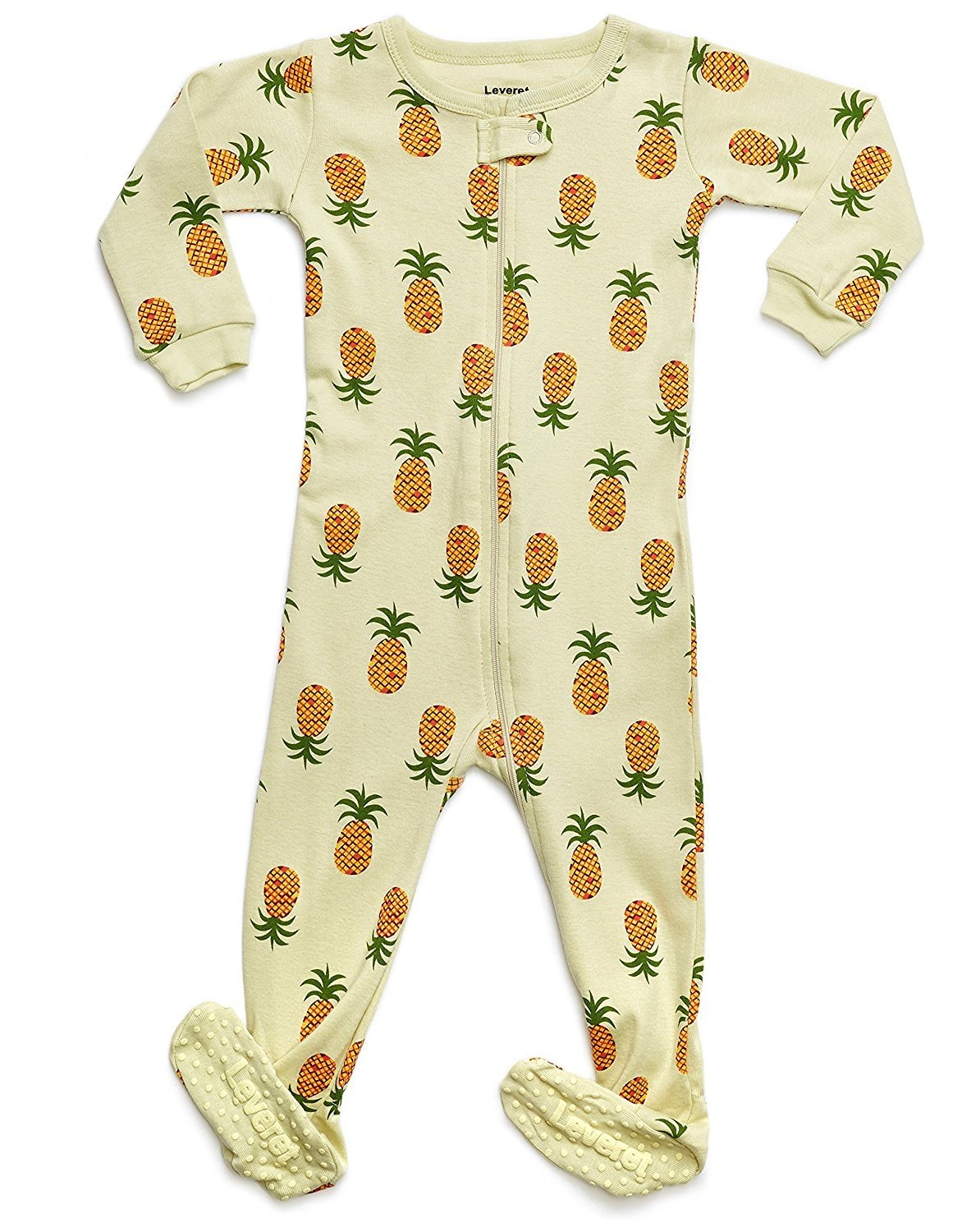 Leveret Organic Cotton Pineapple Footed Pajama Sleeper 18-24 Months