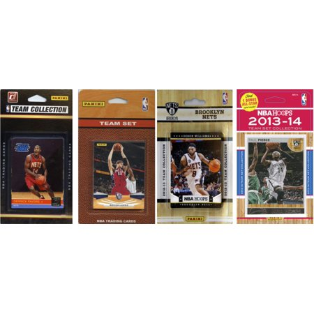 Nba Brooklyn Nets 4 Different Licensed Trading Card Team Sets