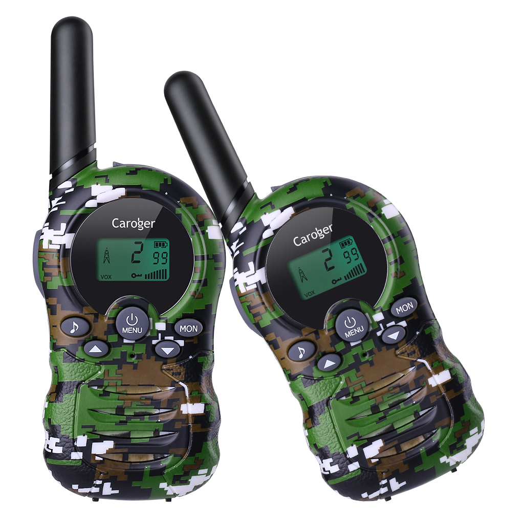 Caroger CR388A 2pack Walkie Talkies, License-Free 22 Channel FRS/GMRS 462/467MHZ Two Way Radio Up to 3300 Meters/2 Miles Range Handheld Interphone