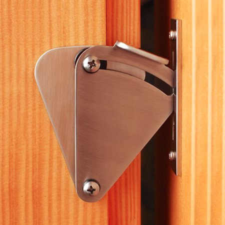 Anauto Door Latch Lock Rolling Sliding Wood Hardware Sliding Pocket Door Latch Lock Privacy Lock Stainless Steel ()