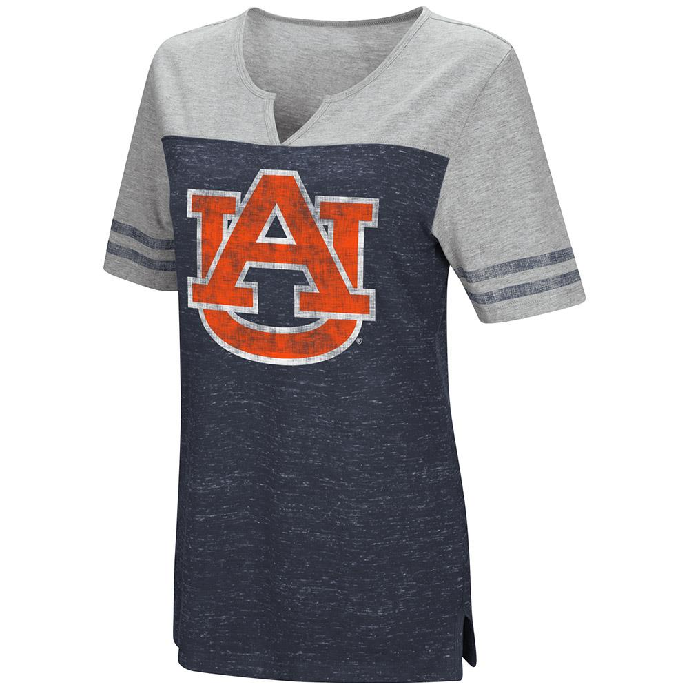 Womens Auburn Tigers V-Neck Tee Shirt - S