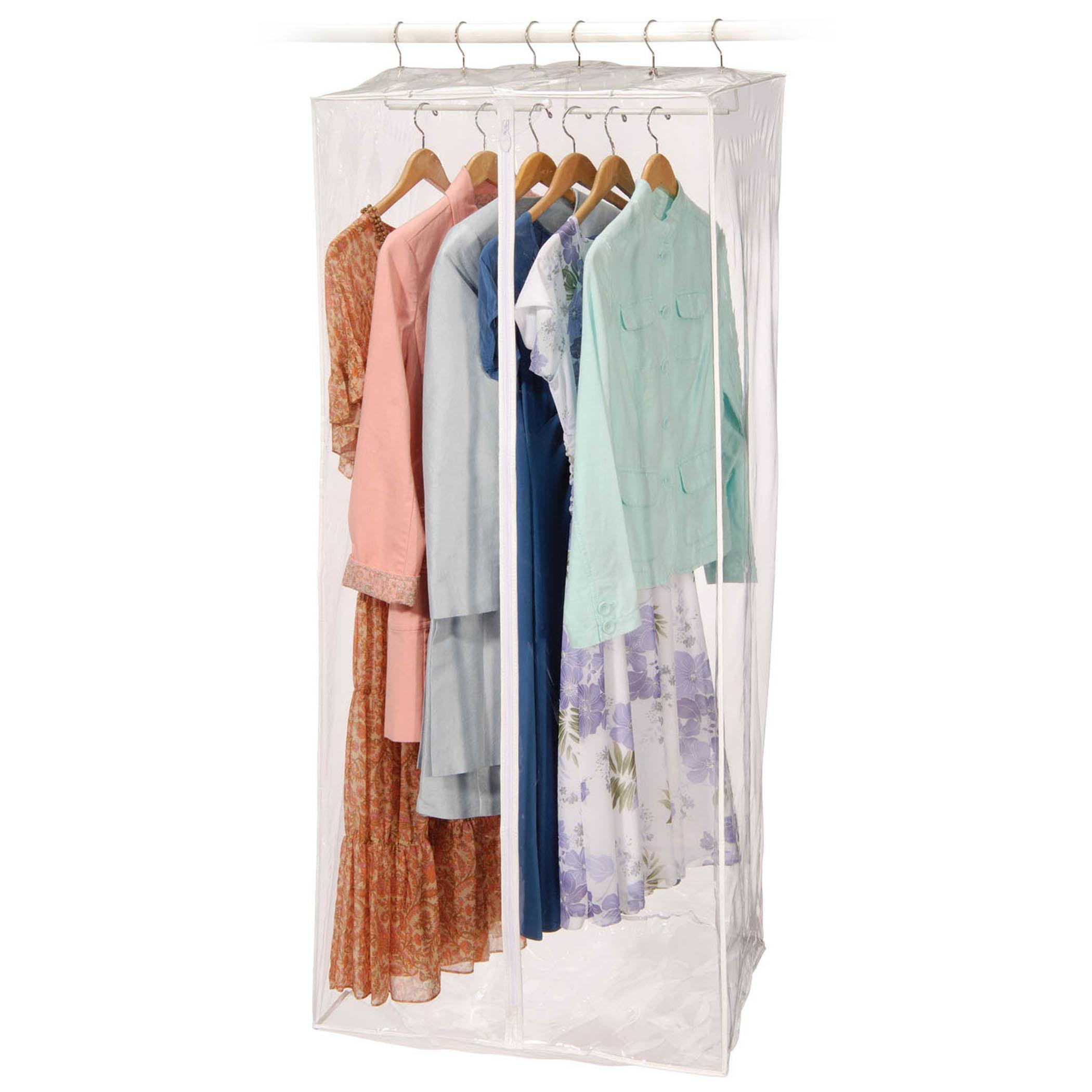 Richards Homewares Clear Vinyl Storage Frameless Jumbo Dress Garment Cover