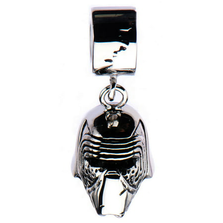 Stainless Steel Episode 7 Kylo Ren Pandora Style Dangle Bead (Beaded Dangle)