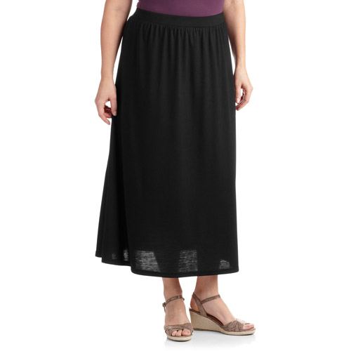 Faded Glory Women's Plus-Size Pull-On Long Knit Skirt