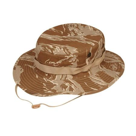 Tru-Spec 3216 Cotton Rip-Stop Boonie Hat, Desert Tiger Stripe Camo, 7.5