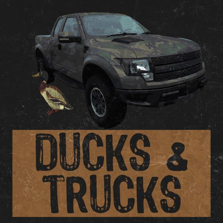 Aluminum Ducks   Trucks Print Camo Camouflage Truck Duck Picture Hunting Outdoor Signs Commercial Metal 12X12 Square S