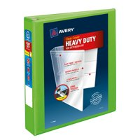"""Avery Heavy-Duty View 3 Ring Binder, 1.5"""" One Touch EZD Ring, Holds 8.5"""" x 11"""" Paper, Chartreuse (79773)"""