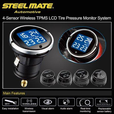 Steelmate EBAT ET-710AE 4-sensor Wireless TPMS LCD Tire Pressure Monitor System - image 6 de 7