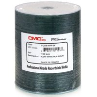 100 CMC Pro Taiyo Yuden 52X CDR (CD-R) 80min 700MB White Thermal Hub Printable