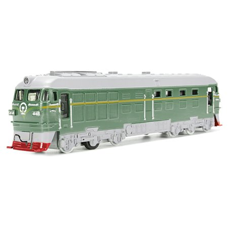 Diecast Metal Train Model Toy Classic Train Toy with Sound and Light Vehicle Playset (Green) (Model Train Sound System)