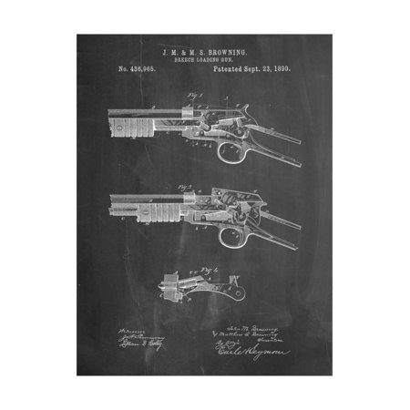 Winchester Model 1890 Gun Patent Print Wall Art By Cole (Winchester Model 97 Trench Gun For Sale)