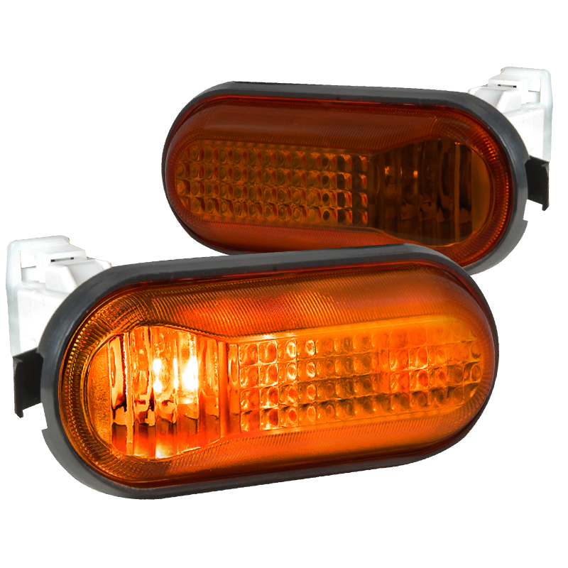 Spec-D Tuning 1992-1995 Honda Civic Dome Side Marker Turn Signal Lights Amber 92 93 94 95 (Left + Right)