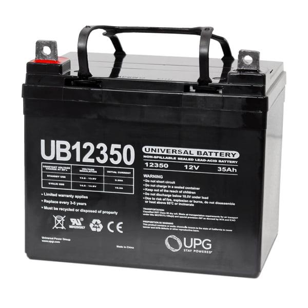 12 Volt - 35 Ah - L1 Terminal - UB12350 (Group U1) - AGM Battery - UPG D5722