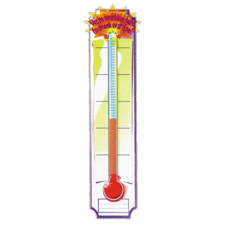 Thermometer Vertical Classroom Banner, Goal Setting, Measures 45 x 12