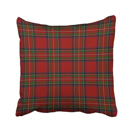WOPOP Scottish Clan Stewart Red Tartan Pillowcase 18x18 (Stewart Clan Tartan)