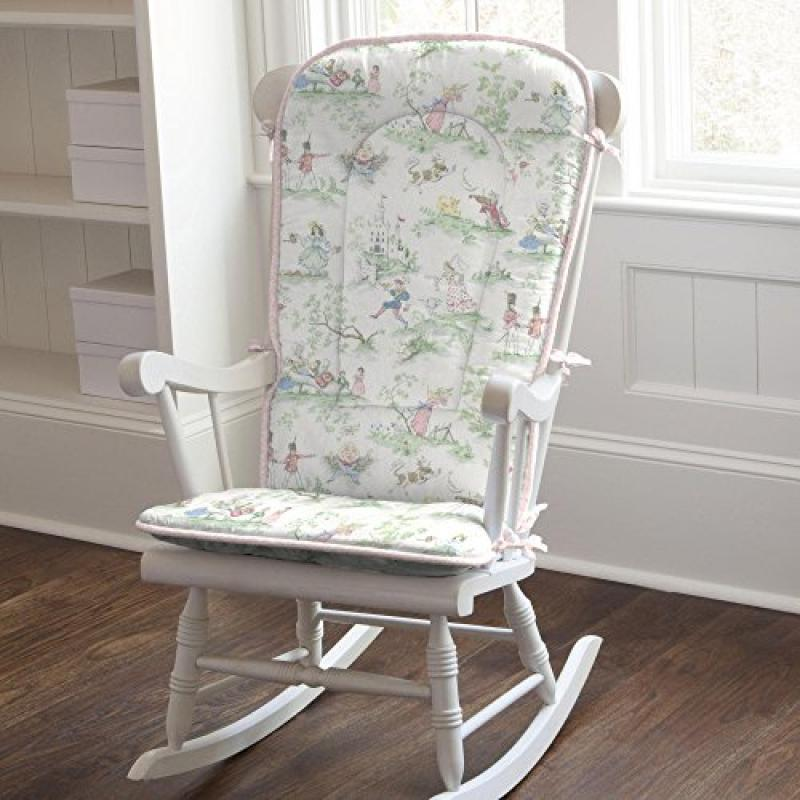 Carousel Pink Over the Moon Toile Rocking Chair Pad