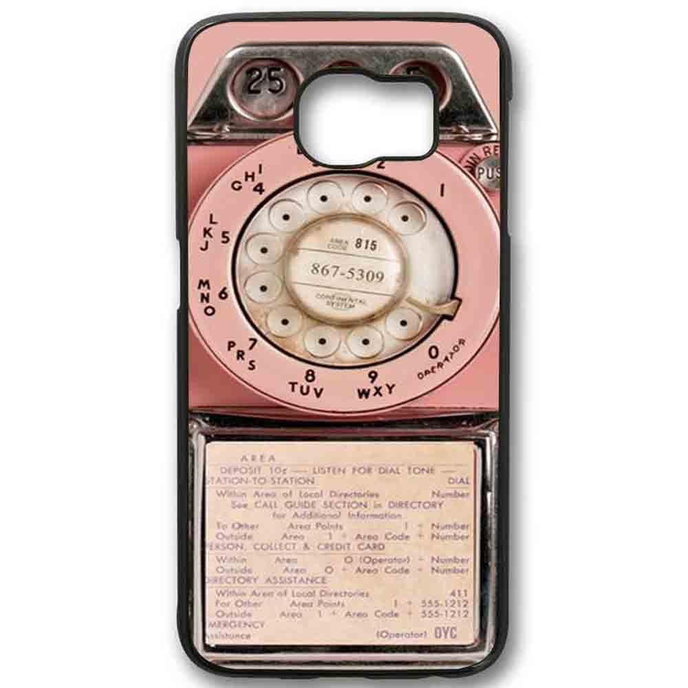 Ganma Vintage Pink Payphonea Case For Samsung Galaxy Case (Case For Samsung Galaxy S6 Black)