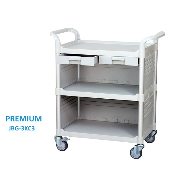 Heavy Duty Commercial Rolling Cabinet Utility Cart Jaboequip Medical Service Cart With Drawer White Walmart Com Walmart Com