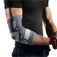 Liveup SPORTS Elbow Brace Compression Support Sleeve - Elbow Sleeve with Adjustable Elastic Bandage for Tennis Elbow, Golfers Elbow, Tendonitis, Arthritis, Weightlifting, Injury Recovery