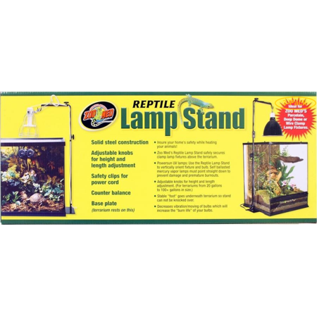 Zoo Med Reptile Lamp Stand 36 Max Height  - 15 Max Horizontal Arm Length - Pack of 3