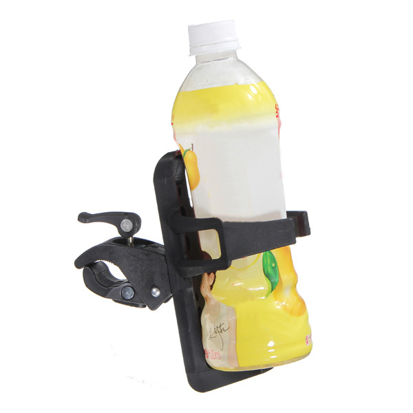 Handlebar Water Bottle Holder Motorcycle Bicycle Bike Cycling Milk Vehicle Parts &amp Drink Cup Adaptor Fits 7/8 1 inch 22mm 25mm Handle Bar Travel Black Plastic MATCC US