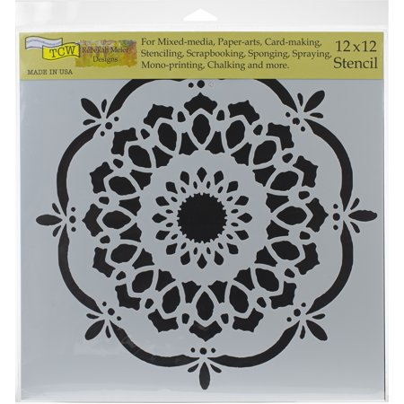 """Crafter's Workshop Template 12""""X12""""-Handcut Blossom - image 1 of 1"""