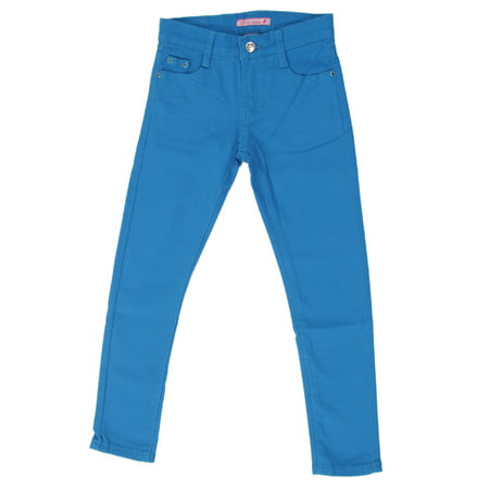 - JGP-COLOR - Girls' Colored Denim 5 Pockets Embellished Skinny jeans