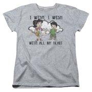 Dragon Tales I Wish With All My Heart Womens Short Sleeve Shirt