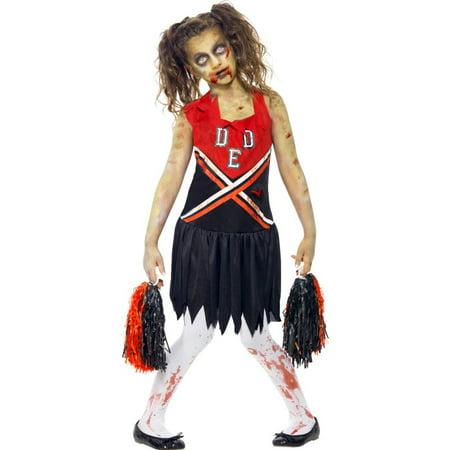 Zombie Cheerleader Teen - Halloween Kids Zombie Cheerleader Costume