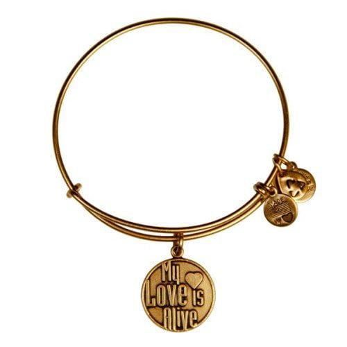 Authentic Alex And Ani My Love Is Alive Charm Bangle Bracelet, CBD12MLIAR