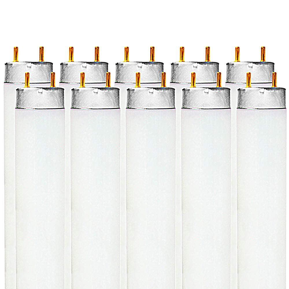 Luxrite LR20730 (10-Pack) F32T8/841 32-Watt 4 FT T8 Fluorescent Tube Light Bulb, Cool White 4100K, 2850 Lumens, G13 Medium Bi-Pin Base