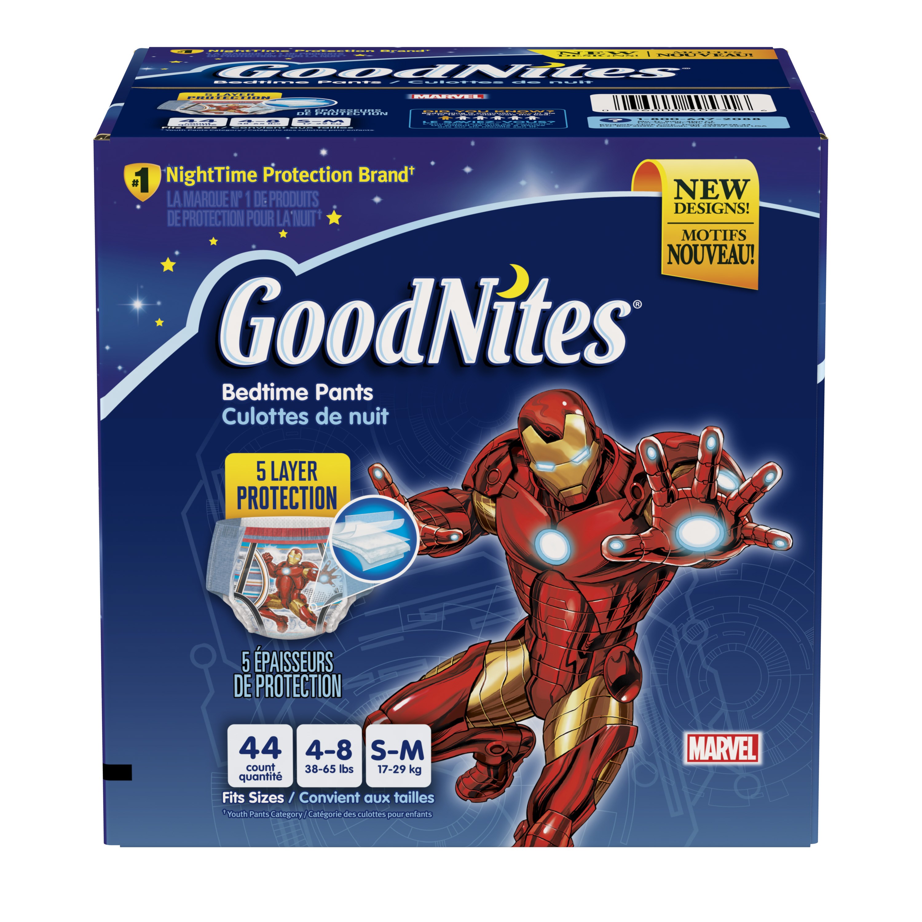 GoodNites Boys' Underwear, Economy Pack (Choose Your Size)
