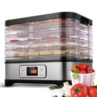 5 Removable Layers Fast Food Dehydrator Machine with Timer,Temperature Control ,LCD Display Screen for Meat or Beef Fruit Vegetable Dryer HFON