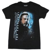 Star Wars  the Last Jedi Mens T-Shirt - Bearded Luke Skywalker Face in Shadow