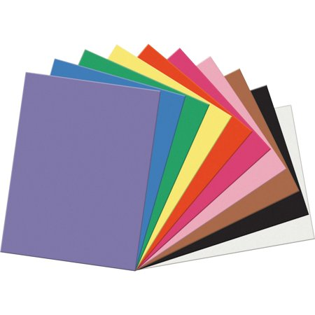 SunWorks, PAC6517, Construction Paper, 50 / Pack, Assorted (Construction Paper Roll)