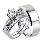 his and hers wedding ring set matching wedding bands for him and her choose sizes - Wedding Rings Sets For His And Her