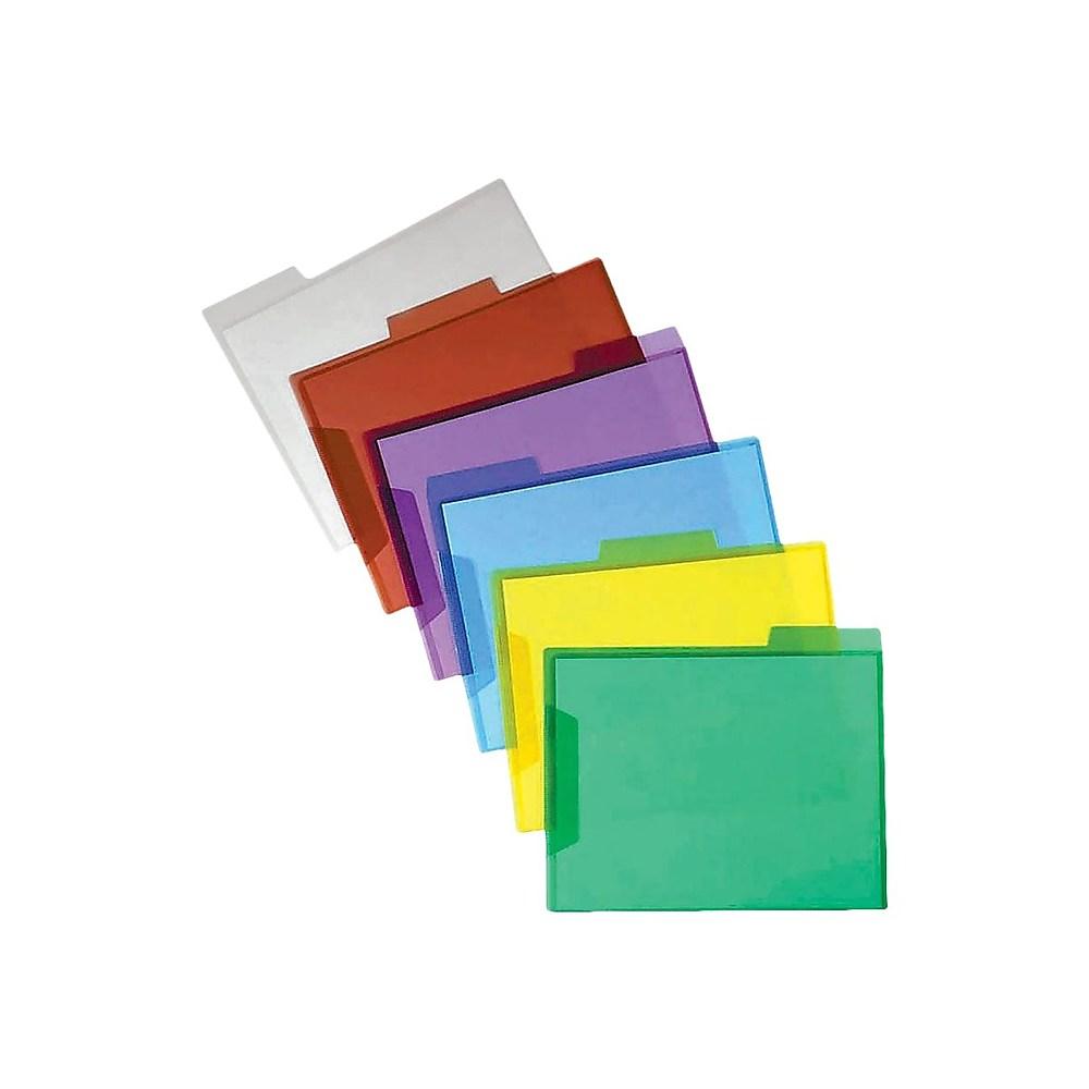 Nova Filer Waterproof Poly-File Folders with Top Tab Single Colors Blue Letter Size 10pcs Pack