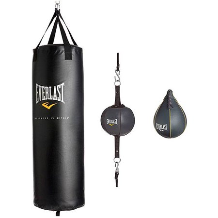 Everlast 3 Station Heavy Bag Stand With 3pc 100 Lb Kit Value Bundle