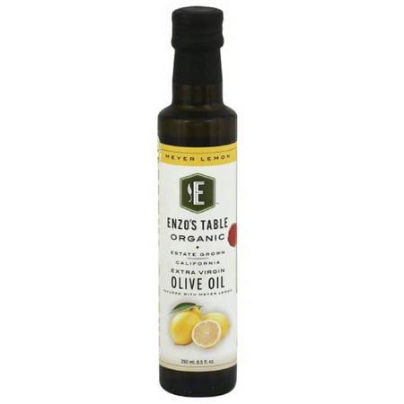- Enzo's Table Organic Meyer Lemon Extra Virgin Olive Oil, 8.5 oz, (Pack of 6)