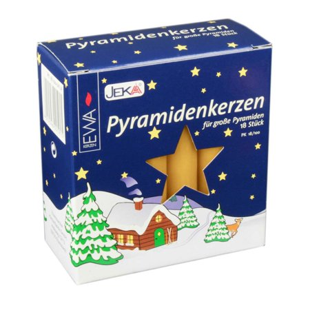 18 Honey .7 Inch German Pyramid Christmas Candles Made in