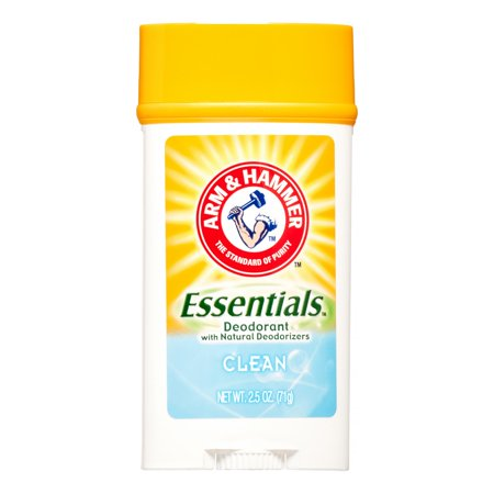 Essential Natural - Arm & Hammer Essentials Natural Deodorant Stick, Clean Scent, 2.5 Oz