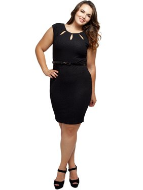 bae7d0ba744a9 Product Image Stylzoo Women s Junior Plus Size Cut Out Cap Sleeve Dress