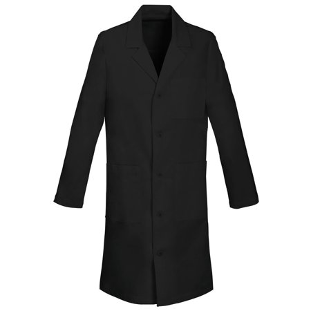 Cotton Notched Collar Coat (Panda Uniform Made To Order 40-Inches Unisex Notched Lapel 5 Button Full Sleeves Neckline Long Lab Coat)