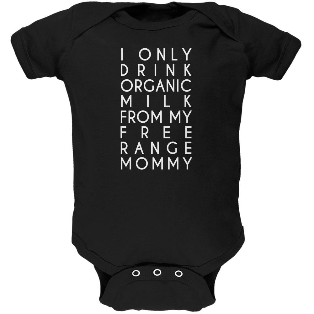 Organic Milk Free Range Mommy Black Soft Baby One Piece